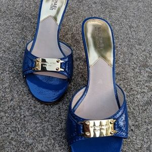 Micheal Kors Cobalt Blue Patent Leather Heels 8M